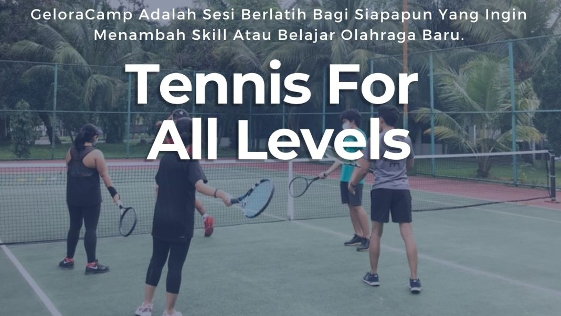 Tenis For All Levels at Tennis Squash Rackets Club 25 Kemang